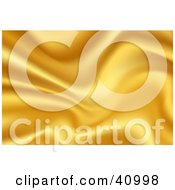 Clipart Illustration Of A Background Of Yellow Wavy Satin