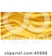 Clipart Illustration Of A Background Of Gold Wavy Silk