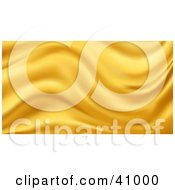 Clipart Illustration Of A Background Of Golden Wavy Silk