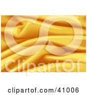 Clipart Illustration Of A Background Of Golden Wavy Satin by Tonis Pan