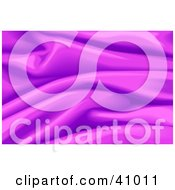 Clipart Illustration Of A Background Of Purple Wavy Satin