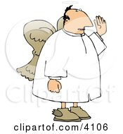 Male Angel Swearing To God Or Giving An Oath Clipart