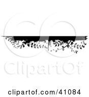 Clipart Illustration Of A Black And White Grunge Vine Border On White