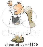 Male Angel Preaching At Church From A Bible Clipart by Dennis Cox