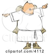 Angry Male Angel Pointing Fingers Clipart by Dennis Cox