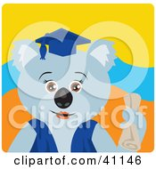 Clipart Illustration Of A Female Koala Bear Graduate Character