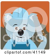 Clipart Illustration Of A Koala Bear Lumberjack Character