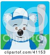 Clipart Illustration Of A Koala Bear Baseball Character