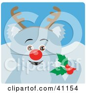 Clipart Illustration Of A Christmas Koala Bear Rudolph The Red Nosed Reindeer Character by Dennis Holmes Designs