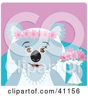 Clipart Illustration Of A Koala Bear Bride Character