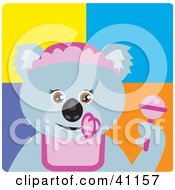 Clipart Illustration Of A Koala Bear Baby Girl Character