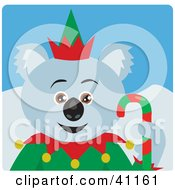 Clipart Illustration Of A Christmas Koala Bear Elf Character