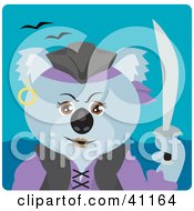 Clipart Illustration Of A Koala Bear Female Pirate Character