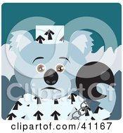 Clipart Illustration Of A Koala Bear Prisoner Character by Dennis Holmes Designs