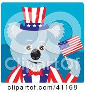 Clipart Illustration Of A Koala Bear Uncle Sam Character