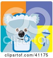 Clipart Illustration Of A Baby Boy Koala Bear Character