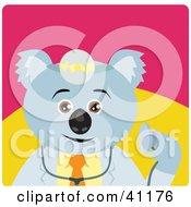 Clipart Illustration Of A Koala Bear Doctor Character