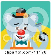 Clipart Illustration Of A Koala Bear Clown Character by Dennis Holmes Designs