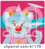 Clipart Illustration Of A Koala Bear Female Clown Character by Dennis Holmes Designs