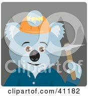 Clipart Illustration Of A Koala Bear Miner Character by Dennis Holmes Designs
