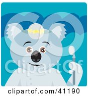 Clipart Illustration Of A Koala Bear Dentist Character by Dennis Holmes Designs