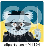 Clipart Illustration Of A Koala Bear Magician Character by Dennis Holmes Designs