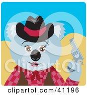 Koala Bear Cowgirl Character