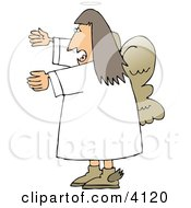Female Angel Yelling Clipart by Dennis Cox