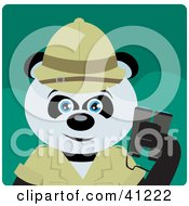 Clipart Illustration Of A Giant Panda Bear Character Exlplorer