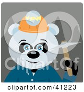 Clipart Illustration Of A Giant Panda Bear Miner Character