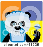 Clipart Illustration Of A Giant Panda Baby Boy Bear Character