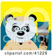 Clipart Illustration Of A Giant Panda Bear Painter Character