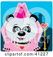 Clipart Illustration Of A Giant Panda Princess Bear Character