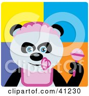 Clipart Illustration Of A Giant Panda Baby Girl Bear Character