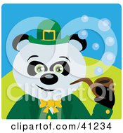 Clipart Illustration Of A Giant Panda Leprechaun Bear Character