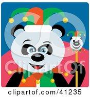 Giant Panda Jester Bear Character