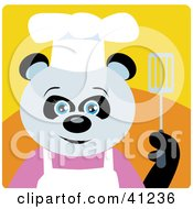 Clipart Illustration Of A Giant Panda Chef Bear Character