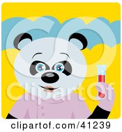 Giant Panda Scientist Bear Character
