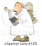 Male Angel Preaching From The Bible Clipart by Dennis Cox