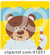 Clipart Illustration Of A Brown Bear Scientist Character