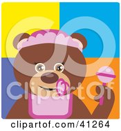 Clipart Illustration Of A Brown Bear Baby Girl Character