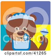 Clipart Illustration Of A Brown Bear Baby Boy Character