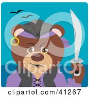 Clipart Illustration Of A Brown Bear Female Pirate Character