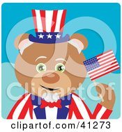 Clipart Illustration Of A Teddy Bear Uncle Sam Character