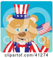 Bear Uncle Sam Character