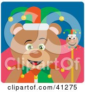 Clipart Illustration Of A Teddy Bear Jester Character