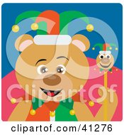 Clipart Illustration Of A Bear Jester Character