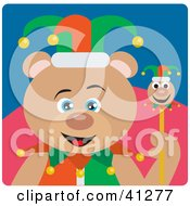 Clipart Illustration Of A Jester Teddy Bear Character