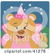 Teddy Bear Character In A Princess Halloween Costume