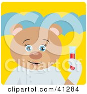 Clipart Illustration Of A Teddy Bear Scientist Character